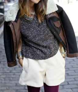 С какво да носим къси панталони зимата? Модни панталонки за 2017 година