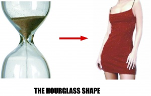 hourglass-shape
