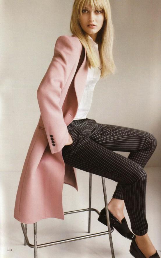 pink wool coat via fashioneditorials.com