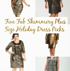 Shimmery Plus Size Holiday Dress Picks