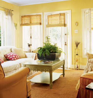 Yellow Family Room - Cottage Living