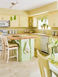 Yellow Kitchen Cupboards - Unknown