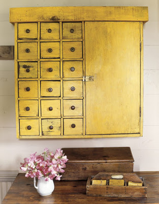 Yellow Storage Cupboard - Country Living
